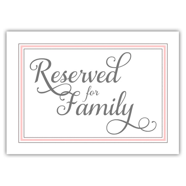 Reserved for family sign 'Elevated Elegance' - Blush - Dazzling Daisies