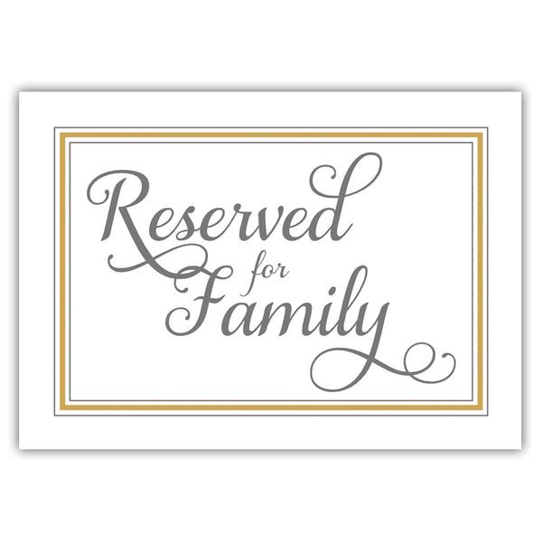 Reserved for family sign 'Elevated Elegance' - Gold - Dazzling Daisies