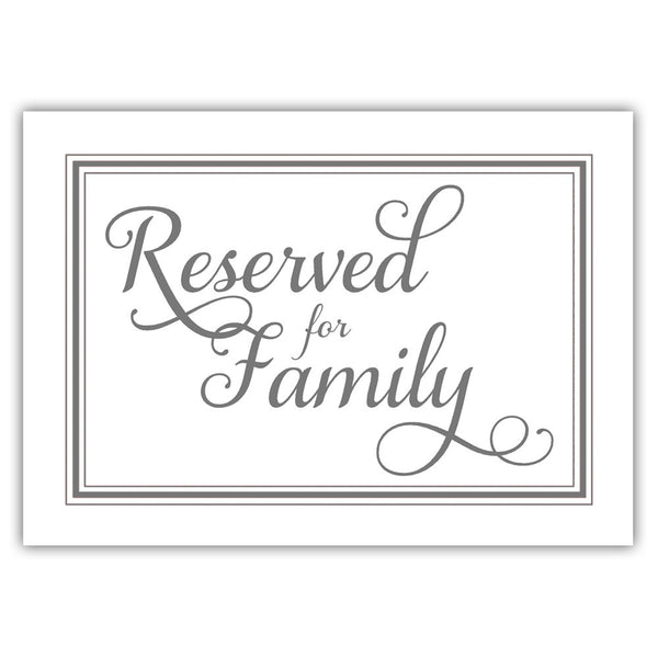 Reserved for family sign 'Elevated Elegance' - Gray - Dazzling Daisies