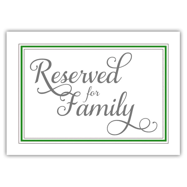Reserved for family sign 'Elevated Elegance' - Green - Dazzling Daisies