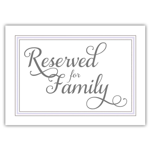 Reserved for family sign 'Elevated Elegance' - Lavender - Dazzling Daisies