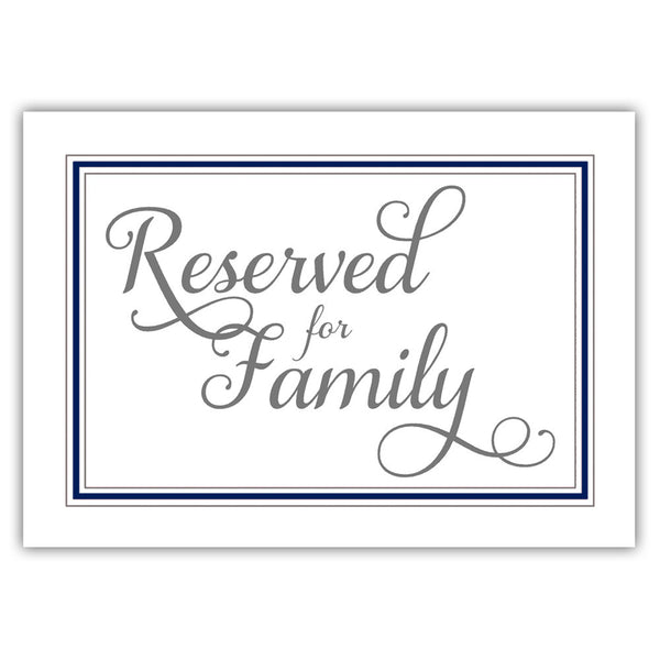 Reserved for family sign 'Elevated Elegance' - Navy - Dazzling Daisies