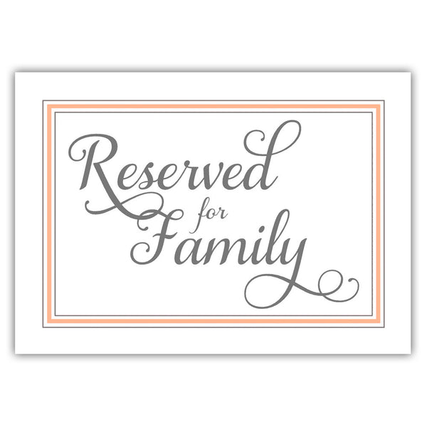 Reserved for family sign 'Elevated Elegance' - Peach - Dazzling Daisies