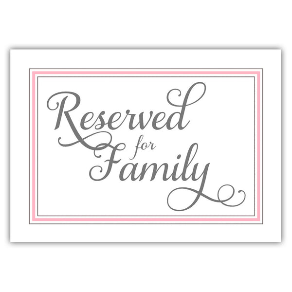 Reserved for family sign 'Elevated Elegance' - Pink - Dazzling Daisies