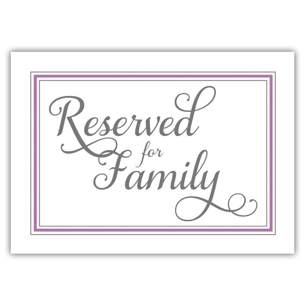 Reserved for family sign 'Elevated Elegance' - Plum - Dazzling Daisies