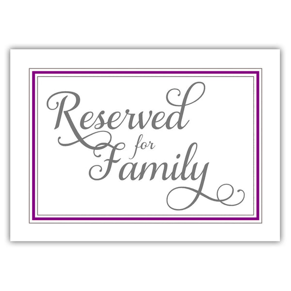 Reserved for family sign 'Elevated Elegance' - Purple - Dazzling Daisies