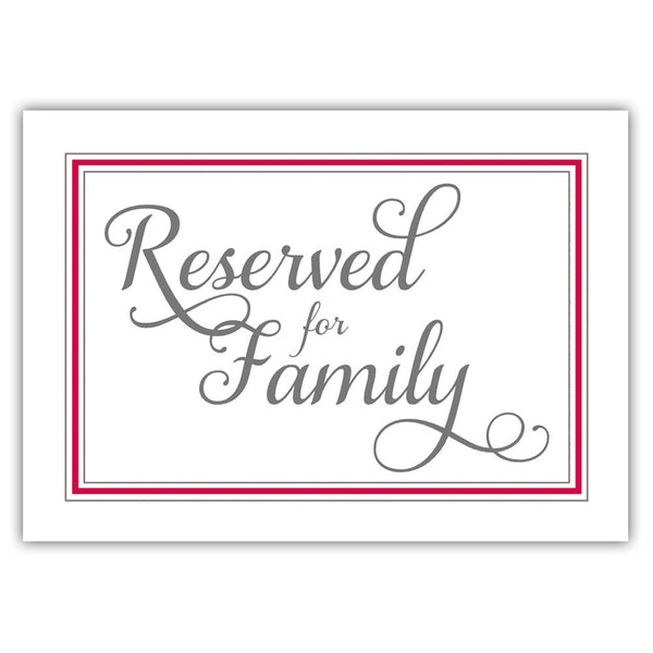 Reserved for family sign 'Elevated Elegance' - Raspberry - Dazzling Daisies