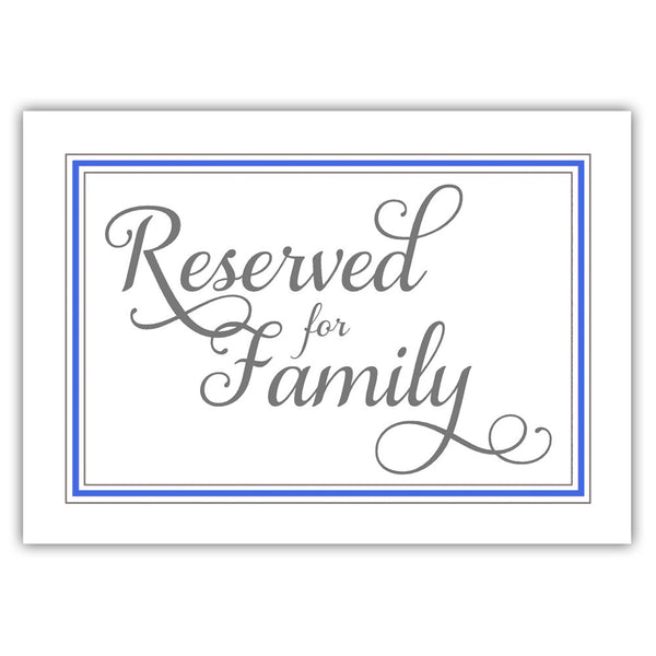 Reserved for family sign 'Elevated Elegance' - Royal blue - Dazzling Daisies