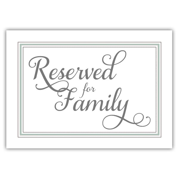 Reserved for family sign 'Elevated Elegance' - Sage - Dazzling Daisies