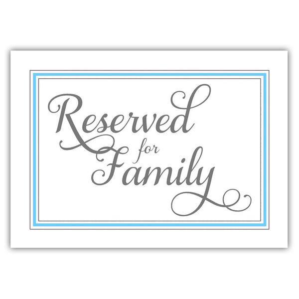 Reserved for family sign 'Elevated Elegance' - Sky blue - Dazzling Daisies