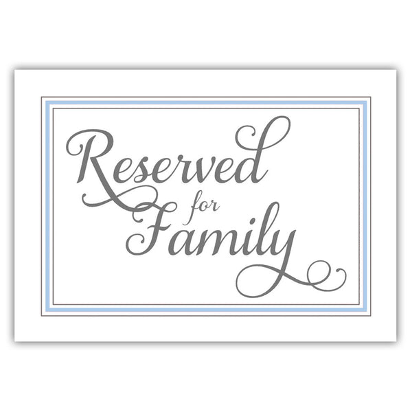 Reserved for family sign 'Elevated Elegance' - Steel blue - Dazzling Daisies