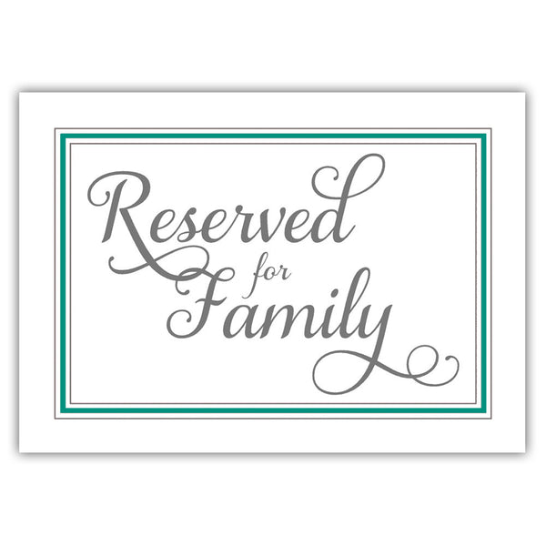 Reserved for family sign 'Elevated Elegance' - Teal - Dazzling Daisies