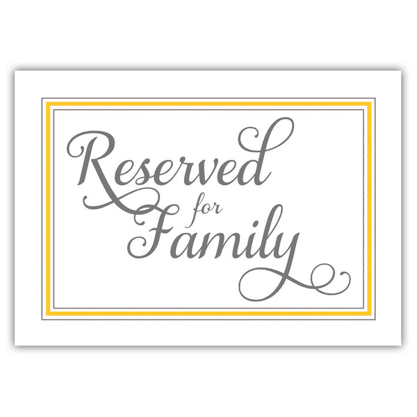 Reserved for family sign 'Elevated Elegance' - Yellow - Dazzling Daisies