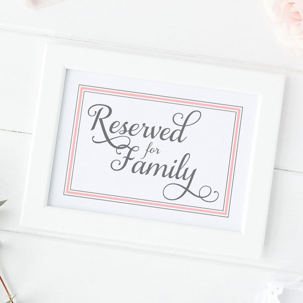 Reserved for family sign 'Elevated Elegance' -  - Dazzling Daisies