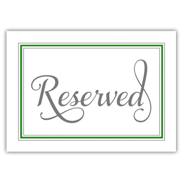 Reserved sign 'Elevated Elegance' - Green - Dazzling Daisies