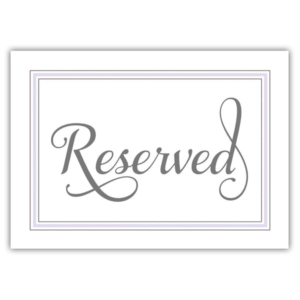 Reserved sign 'Elevated Elegance' - Lavender - Dazzling Daisies