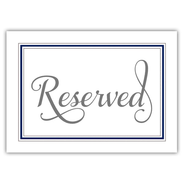 Reserved sign 'Elevated Elegance' - Navy - Dazzling Daisies