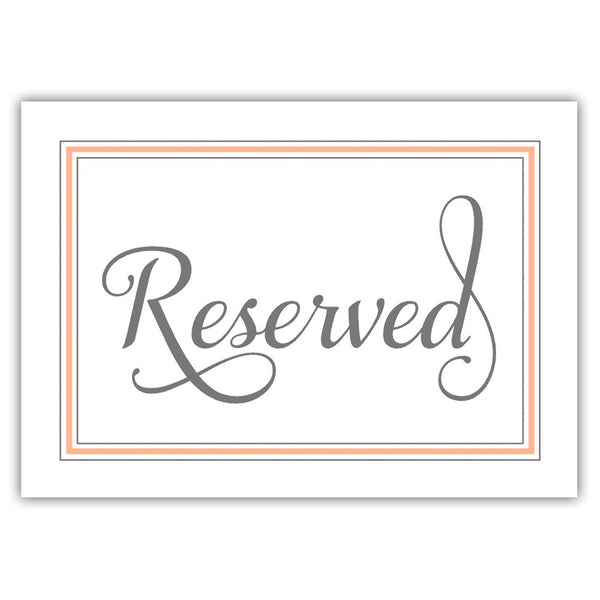 Reserved sign 'Elevated Elegance' - Peach - Dazzling Daisies