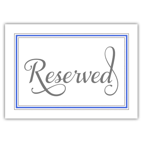 Reserved sign 'Elevated Elegance' - Royal blue - Dazzling Daisies