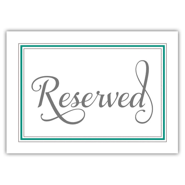 Reserved sign 'Elevated Elegance' - Teal - Dazzling Daisies