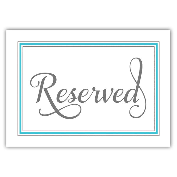 Reserved sign 'Elevated Elegance' - Turquoise - Dazzling Daisies