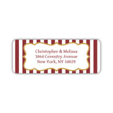 Return address labels 'Striped Elegance' - Maroon - Dazzling Daisies