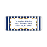 Return address labels 'Striped Elegance' - Navy - Dazzling Daisies