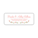 Floral address labels - Coral - Dazzling Daisies