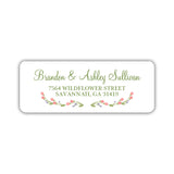 Floral address labels - Olive - Dazzling Daisies