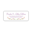 Floral address labels - Plum - Dazzling Daisies