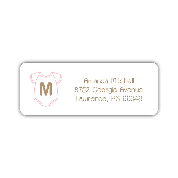 Baby shower address labels - Pink - Dazzling Daisies