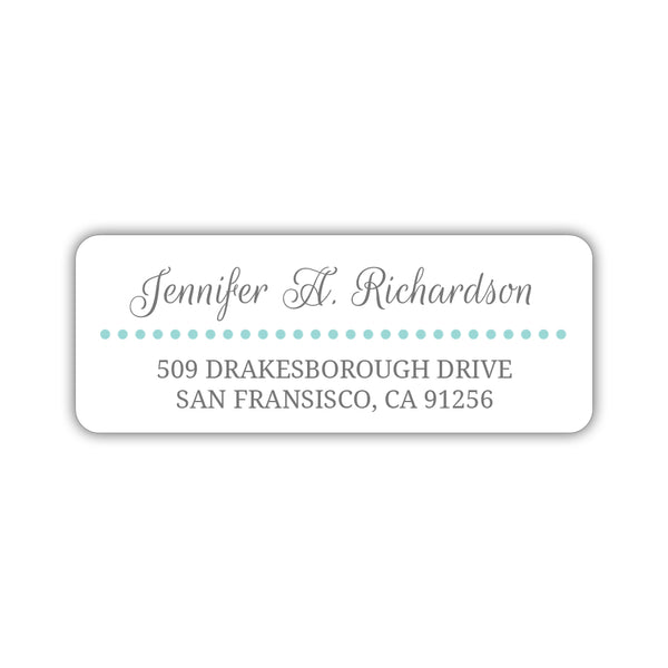 Return address labels 'Dots Galore' - Aquamarine - Dazzling Daisies