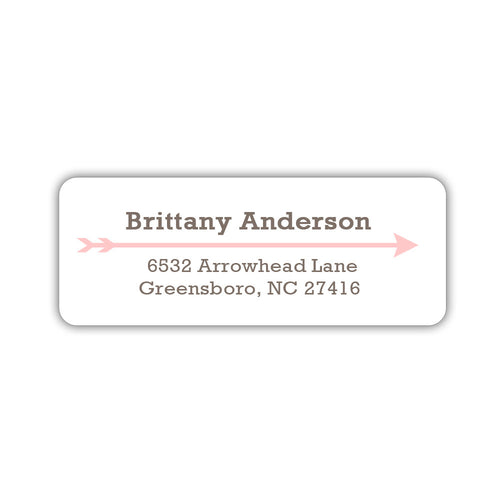 Return address labels 'Modern Arrow' - Blush - Dazzling Daisies