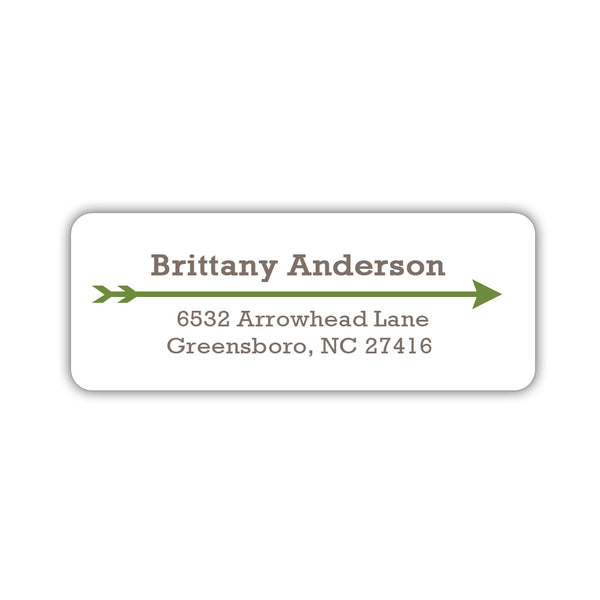 Return address labels 'Modern Arrow' - Olive - Dazzling Daisies