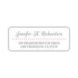 Return address labels 'Dots Galore' -  - Dazzling Daisies