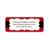 Christmas return address labels 'Santa's Belt' -  - Dazzling Daisies
