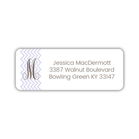 Round monogram return address labels