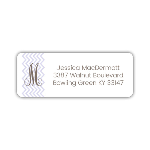 Return address labels 'Chevron' - Lavender - Dazzling Daisies