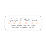 Return address labels 'Dots Galore' - Coral - Dazzling Daisies