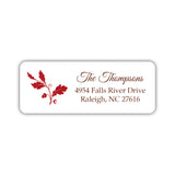 Fall address labels 'Acorn' - Indian red - Dazzling Daisies