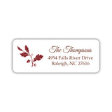 Fall address labels 'Acorn' - Maroon - Dazzling Daisies