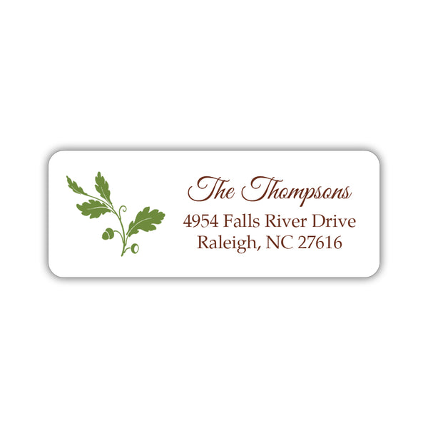 Fall address labels 'Acorn' - Olive - Dazzling Daisies