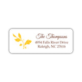 Fall address labels 'Acorn' - Yellow - Dazzling Daisies