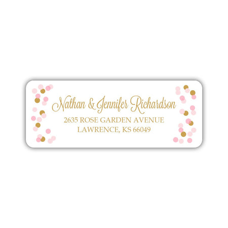 Return address labels 'Striped Elegance'