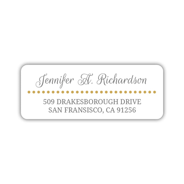 Return address labels 'Dots Galore' - Gold - Dazzling Daisies