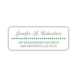 Return address labels 'Dots Galore' - Green - Dazzling Daisies