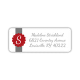 Return address labels 'Cigar Band' - Indian red - Dazzling Daisies