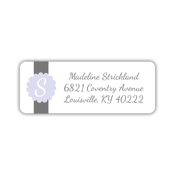 Return address labels 'Cigar Band' - Lavender - Dazzling Daisies