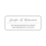 Return address labels 'Dots Galore' - Lavender - Dazzling Daisies