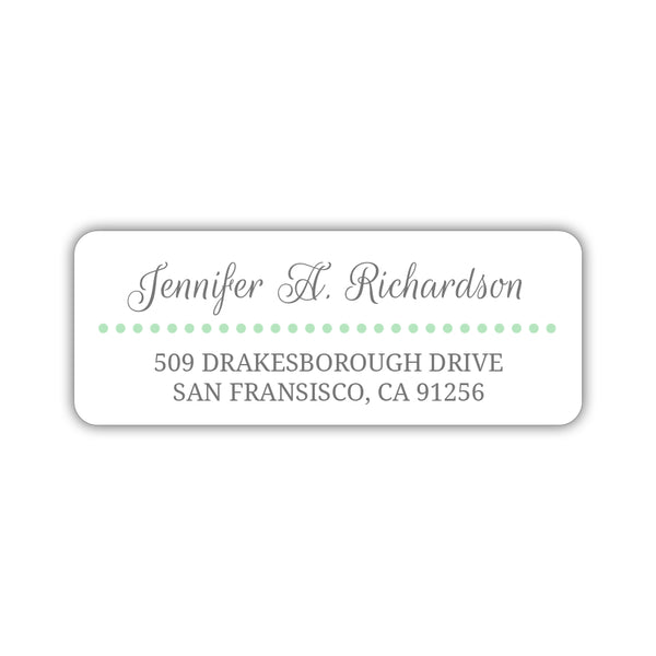 Return address labels 'Dots Galore' - Mint - Dazzling Daisies